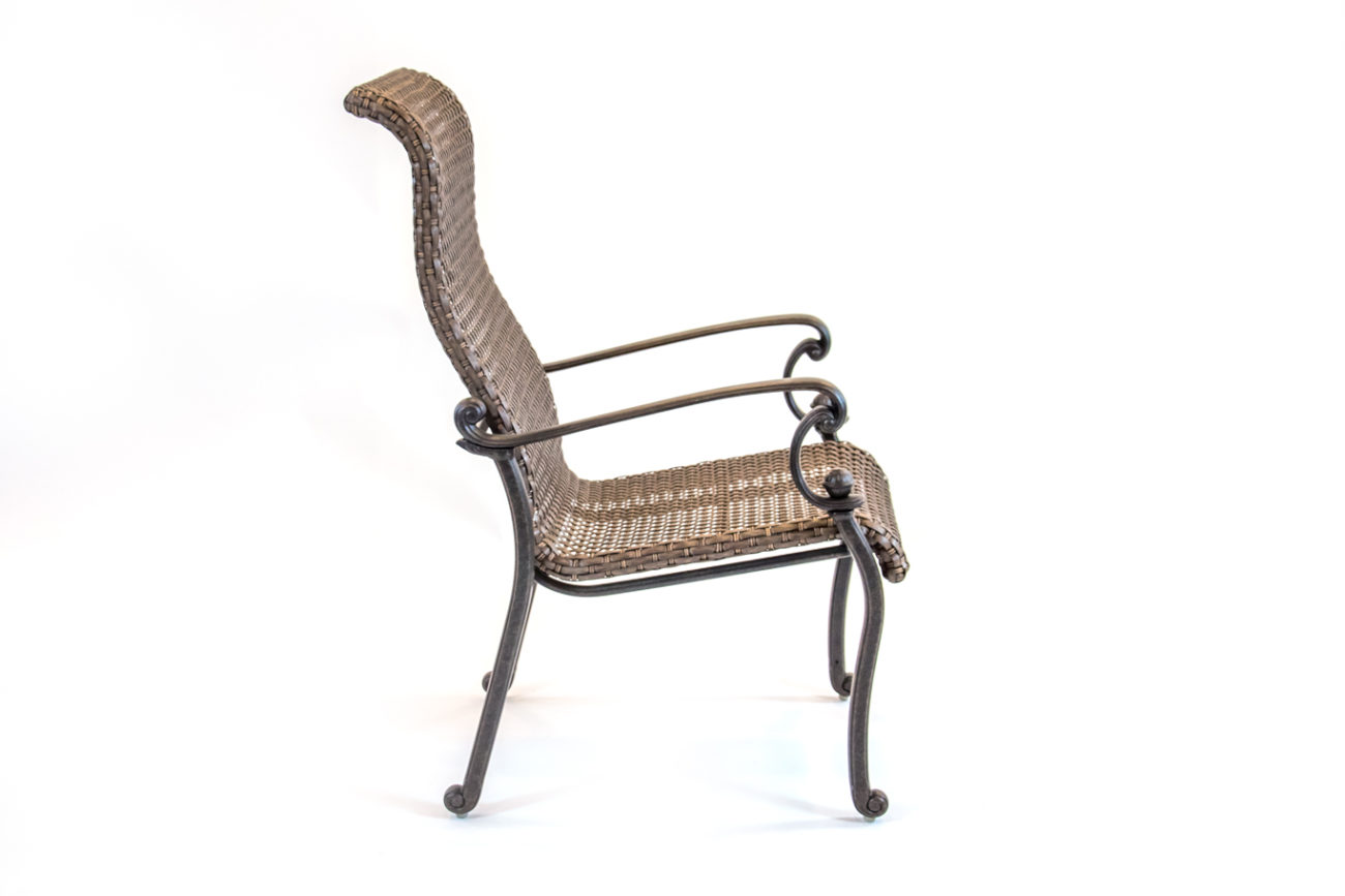 Hanamint St Augustine Aluminum Wicker Dining Chair