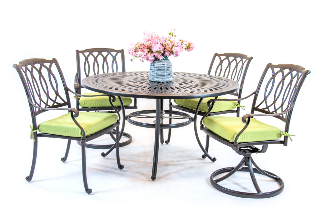 Hanamint Mayfair Dining Sets Round Table Set Premium Patio